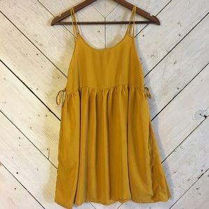 Forever 21 mustard baby doll dress